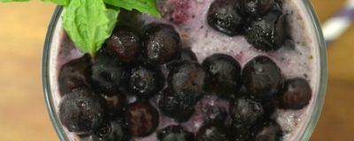 Wild Blueberry Smoothie (with Blueberry Boba)