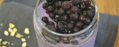 Overnight Oatmeal x Wild Blueberry Smoothie