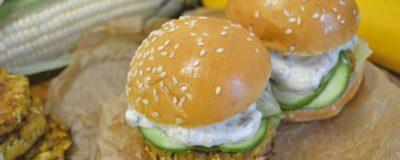 Spicy Veggie Burger with Summer Favorites